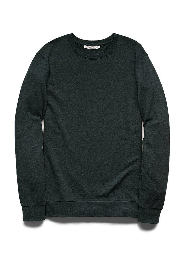 7af82385f Lyst - Forever 21 Classic Crew Neck Sweatshirt in Green for Men