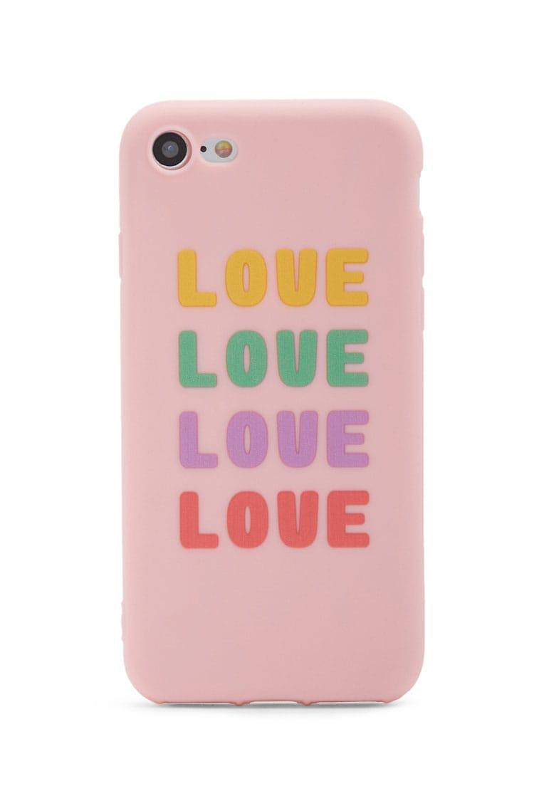 ffb9a8f5e69eb Forever 21 Love Phone Case For Iphone 7/8 in Pink - Lyst