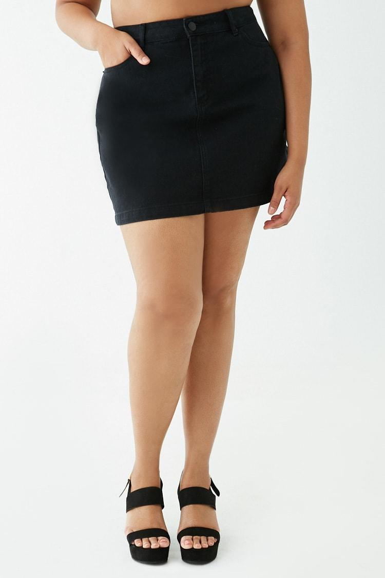 f5ad82fc9 Lyst - Minifalda denim Forever 21 de color Negro