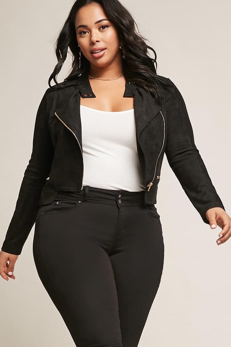 Womens Faux Suede Jacket