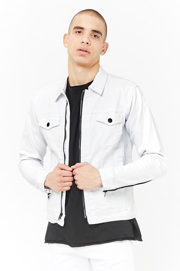 aae613768f4 Forever 21 Jordan Craig Denim Jacket in White for Men - Lyst