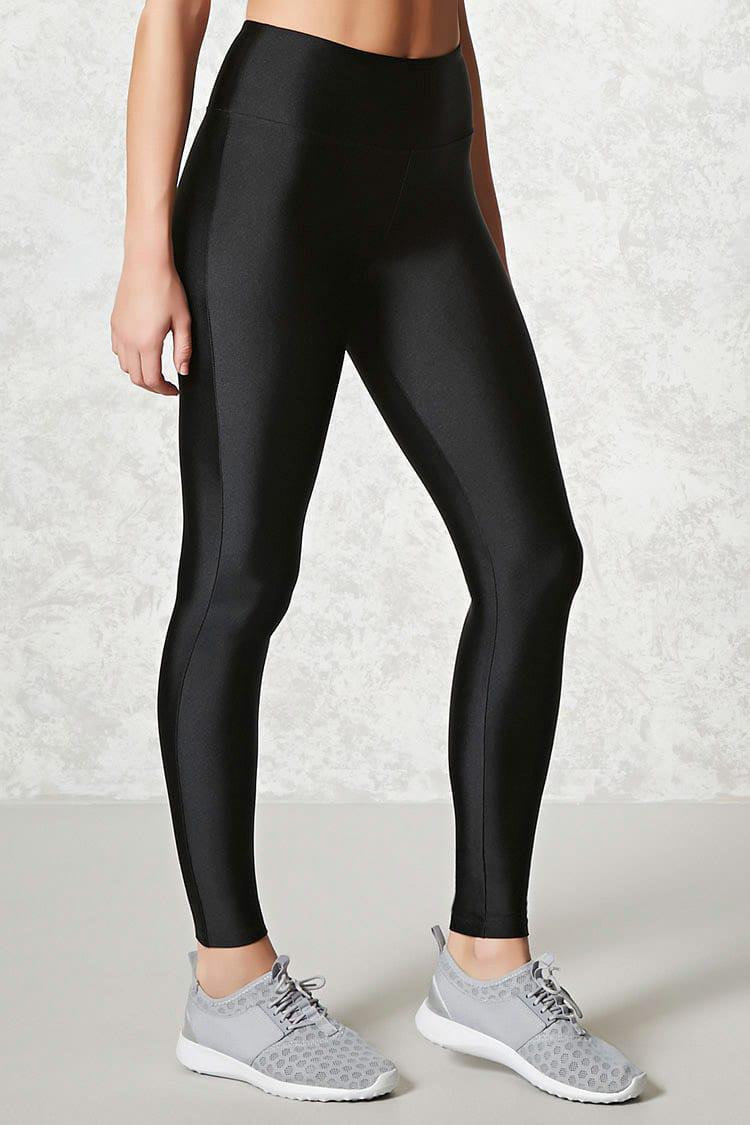Forever 21. Women's Black Active Nylon Leggings