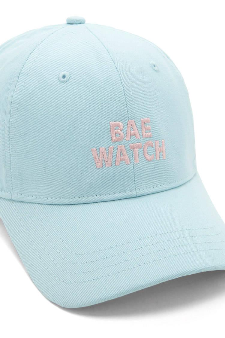 8a6791aee2d Lyst - Forever 21 Bae Watch Graphic Baseball Cap in Blue