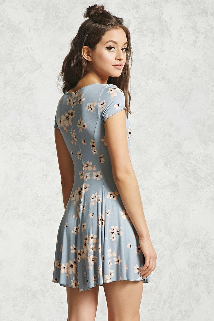 0cd8968f0d Floral Swing Dress Forever 21 - Gomes Weine AG