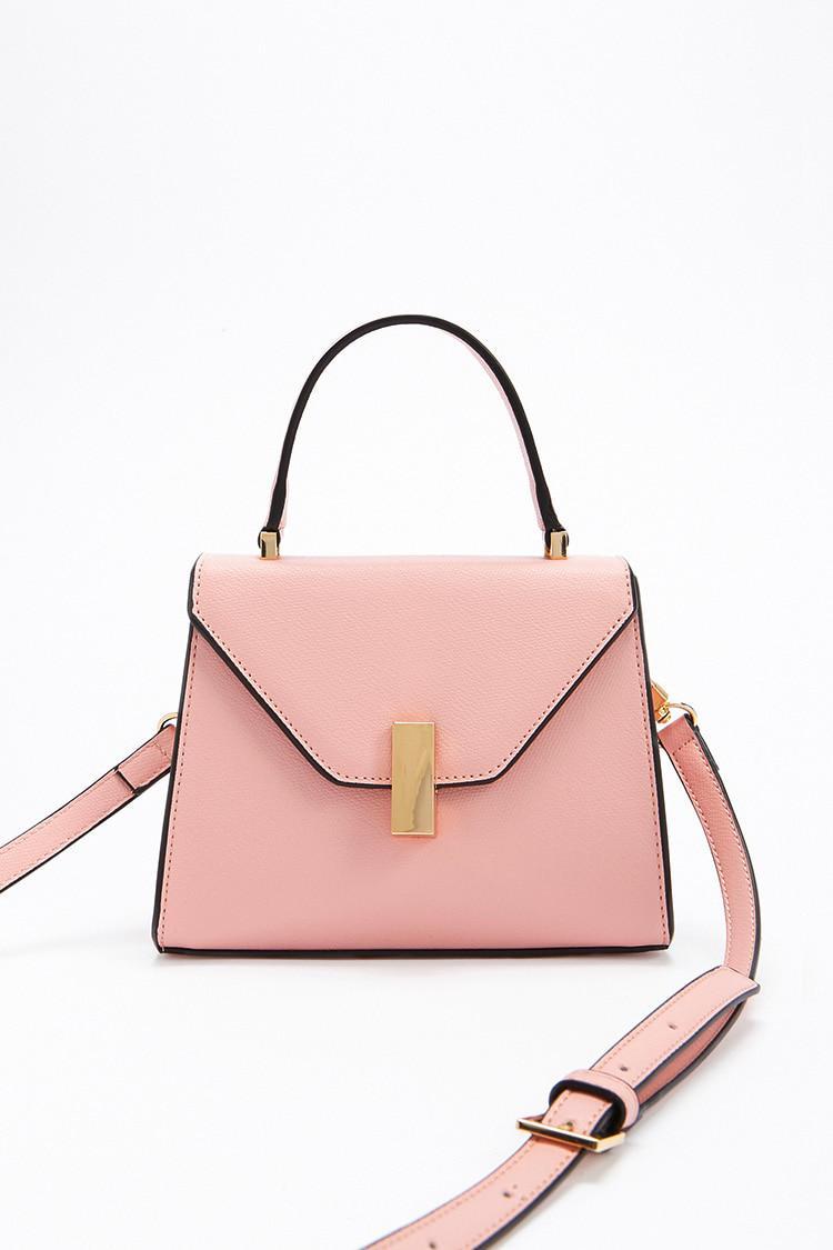 e64f105c38d30 Forever 21 Mini Satchel Crossbody Bag in Pink - Lyst
