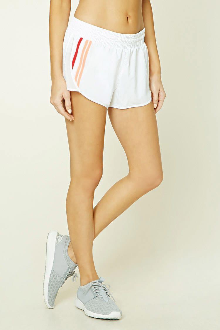 535863de91 Short deportivo rayas laterales Forever 21 de color Blanco - Lyst