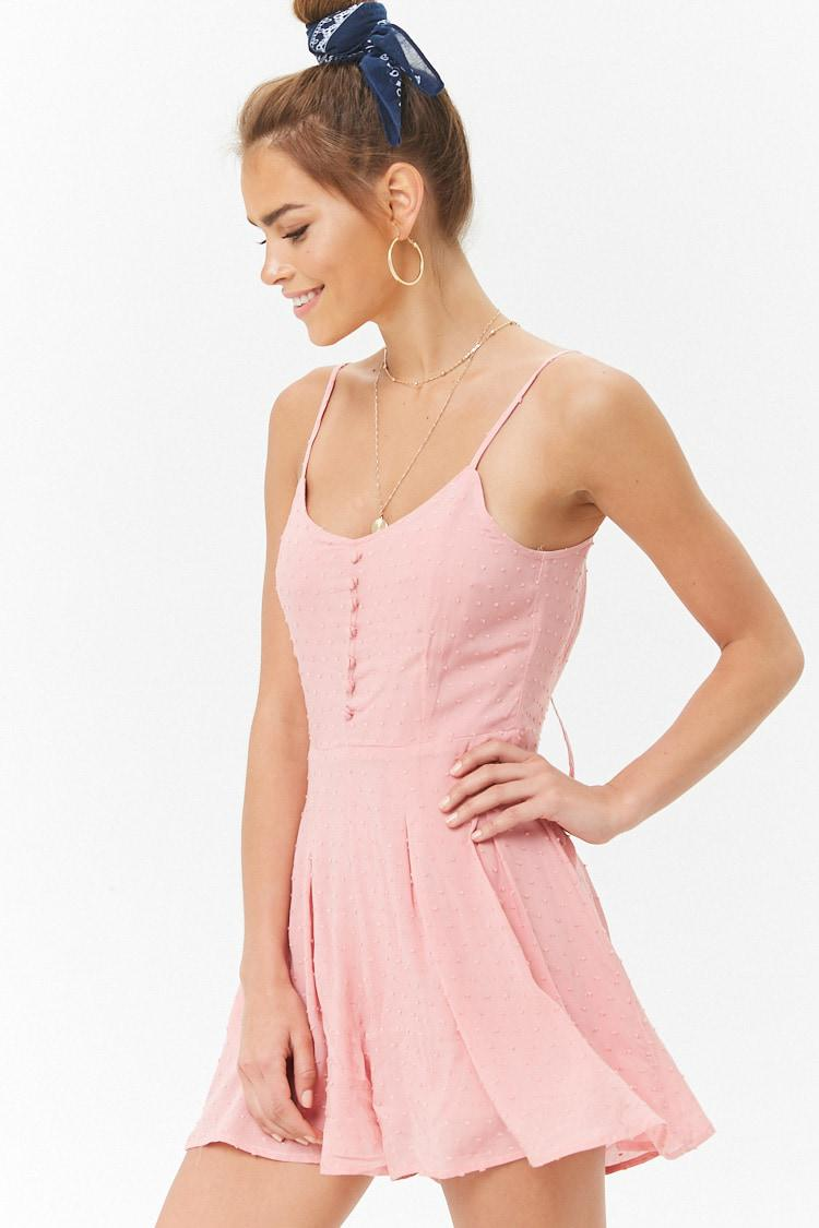3377330186f Lyst - Forever 21 Pleated Cami Romper in Pink