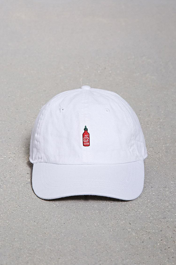 Lyst - Forever 21 City Hunter Sriracha Dad Cap in White for Men c67579baf6a