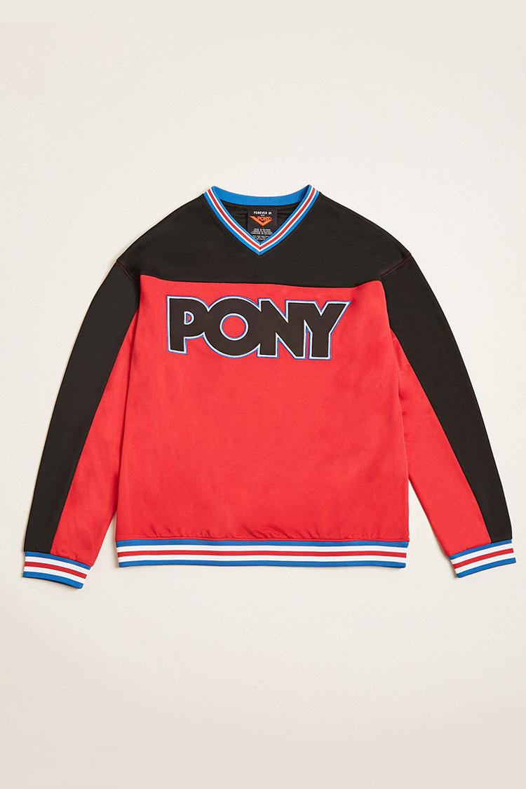 5f9ced3c Forever 21 Pony Colorblock Hockey Jersey in Red for Men - Lyst