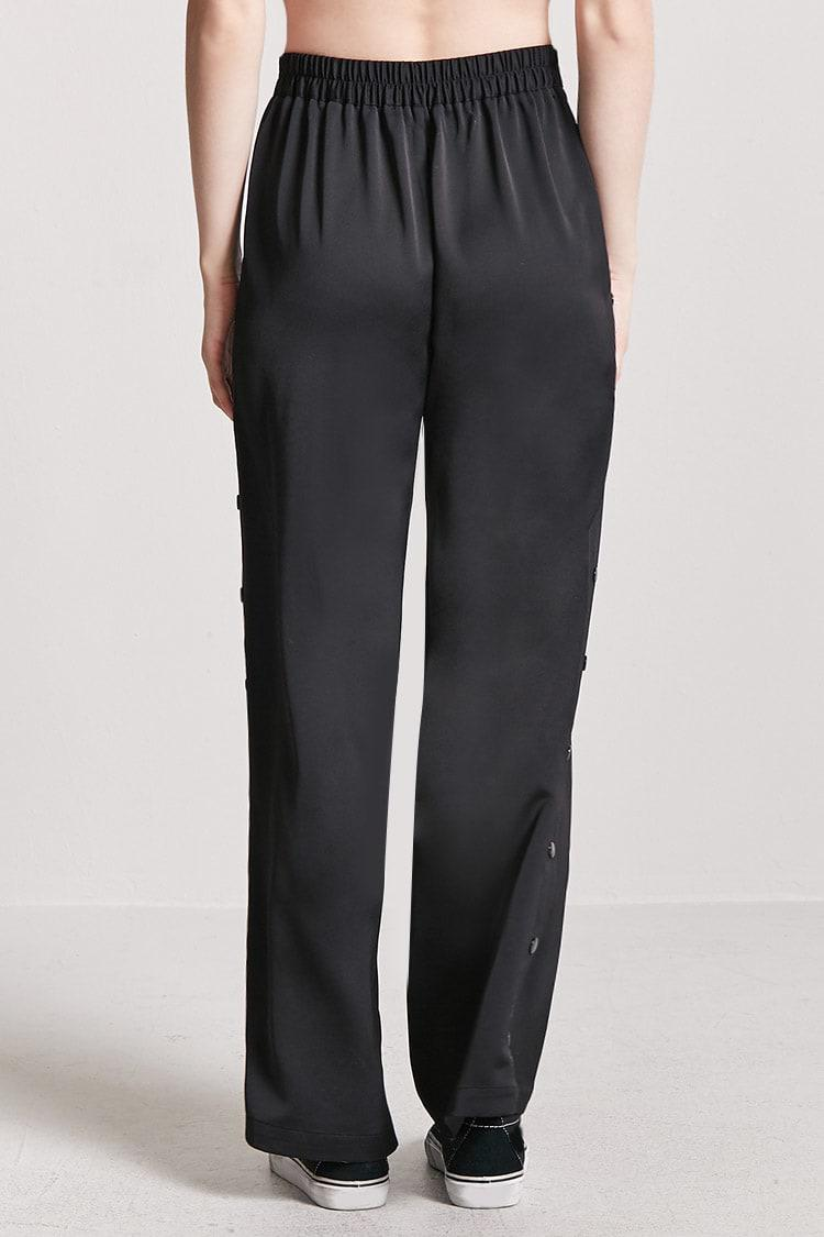 Forever 21 High Rise Tearaway Trousers In Black Lyst