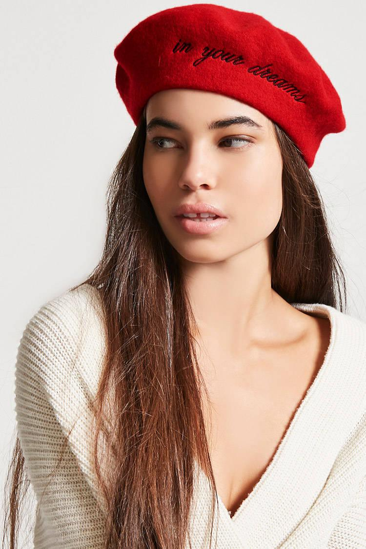 ffd1ceaedd8aa Forever 21 In Your Dreams Wool Beret in Red - Lyst