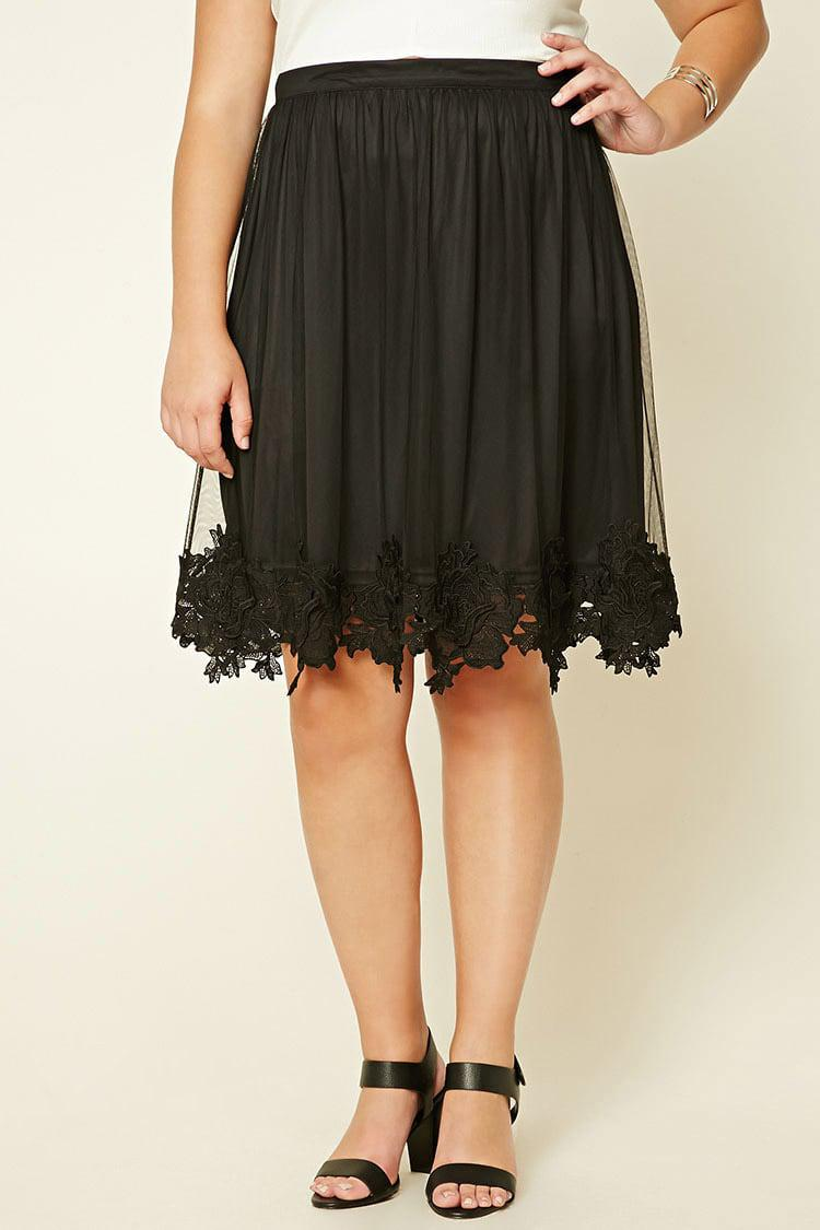 a4c4ef2d9d9 Forever 21 Plus Size Tulle Skirt in Black - Lyst
