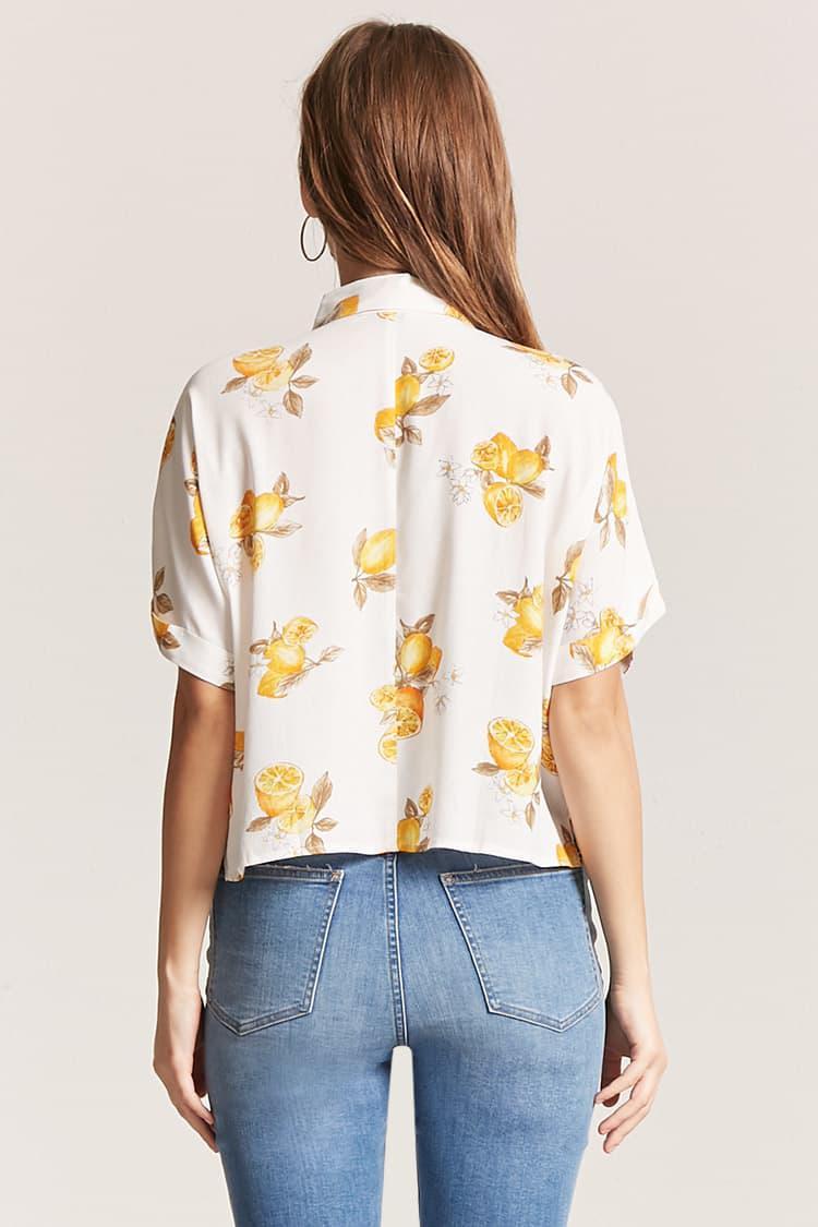 2b38ecd0bda4 Forever 21 Women's Lemon Print Shirt - Lyst