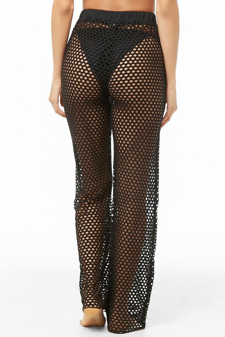 5cfb033b28 Forever 21 - Black Women's Sheer Mesh Swim Cover-up Pants - Lyst. View  fullscreen