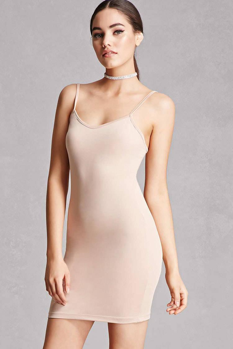93d8731c6 Forever 21 Kikiriki V-neck Slip Dress in Natural - Lyst