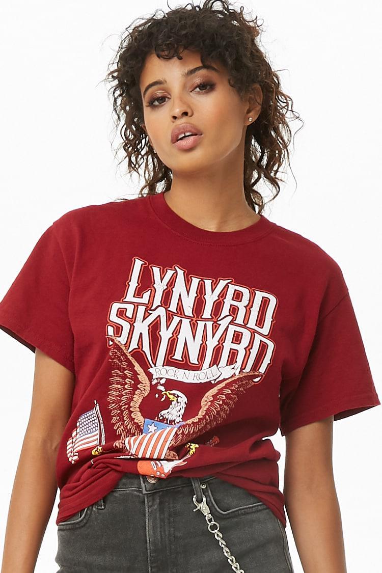 69008c63 Lyst - Forever 21 Lynyrd Skynyrd Graphic Tee in Red