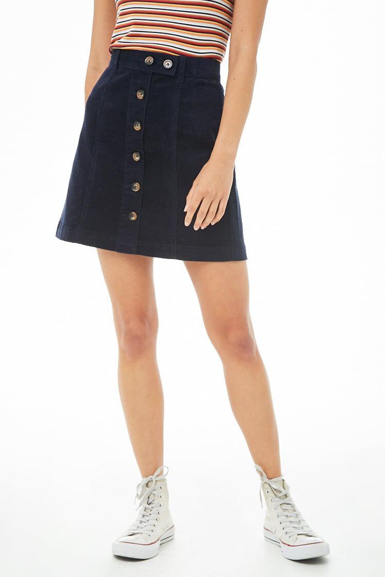 600c26a62 ... Corduroy Button-front Mini Skirt - Lyst. View fullscreen