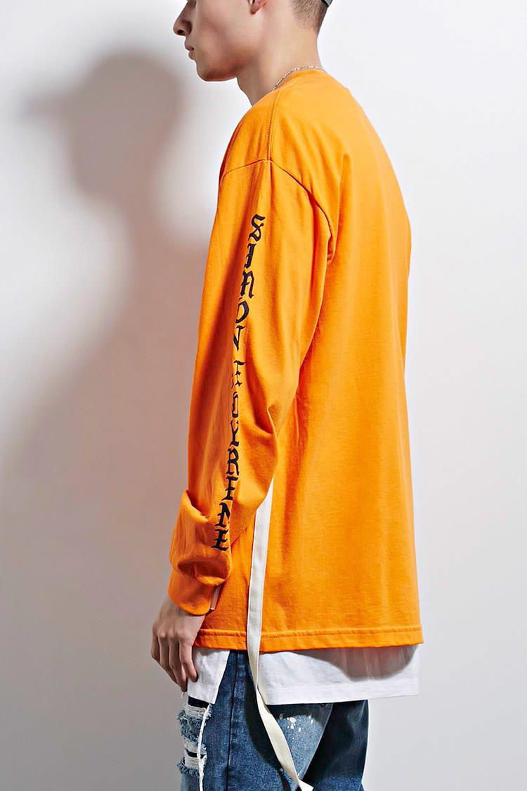 3c39da1bb Forever 21 Sdc Old English Graphic Tee in Orange for Men - Lyst