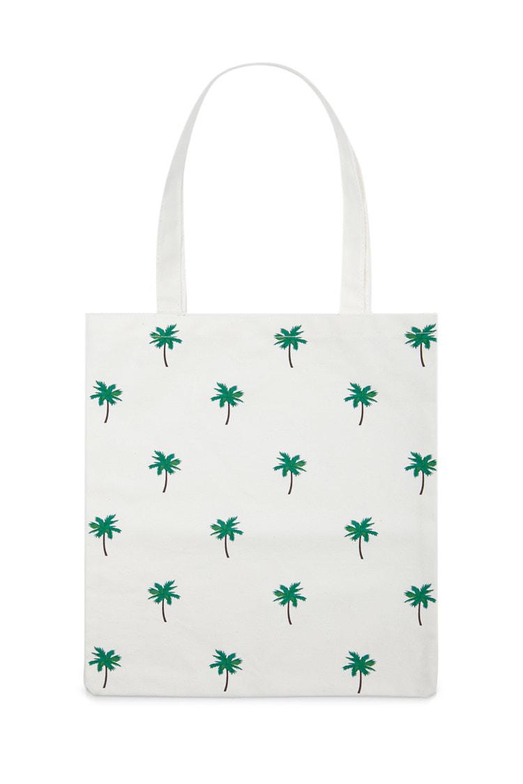 b90d3a090d Lyst - Forever 21 Palm Tree Canvas Tote Bag in Natural