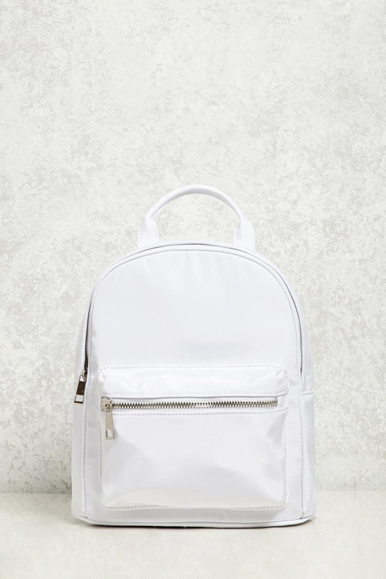 e0b5036aaad1 Lyst - Forever 21 Small Nylon Backpack in White