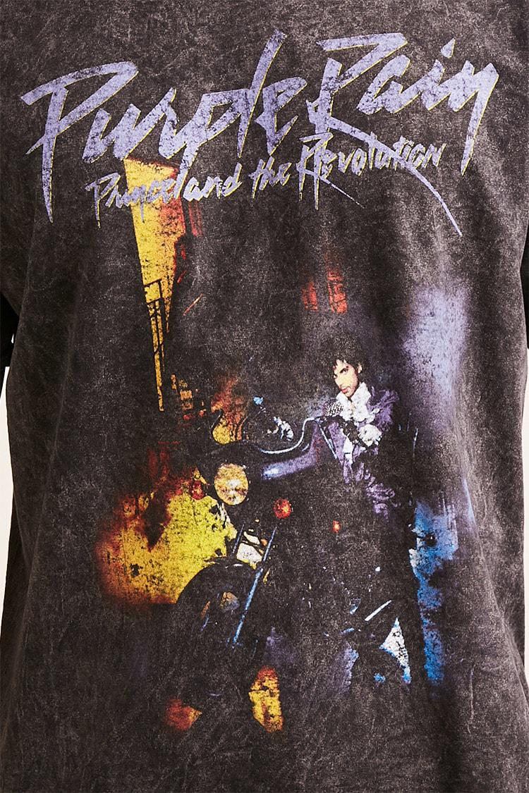 34dc7376b Forever 21 Acid Wash Prince Graphic Tee in Black for Men - Lyst
