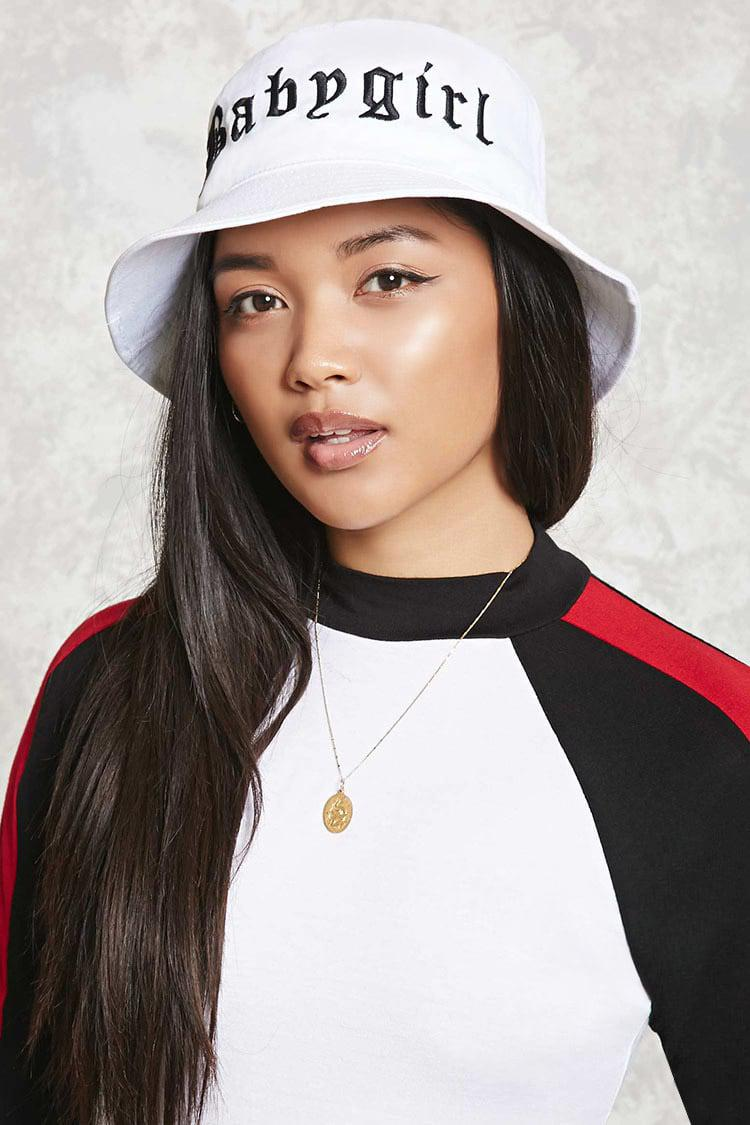 84f8003d4c5a6 Forever 21 Baby Girl Bucket Hat in White - Lyst