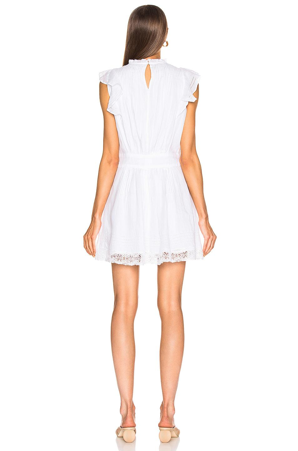 Lyst Frame Lace Pintuck Dress In White
