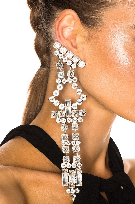 Saint Laurent Crystal Drop Earrings jvkBruIy