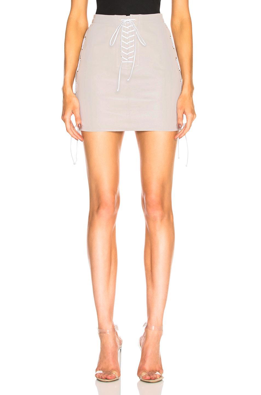 Womens Lace-Up Suede Miniskirt Unravel Cheap Sale View ejpHI7Dju