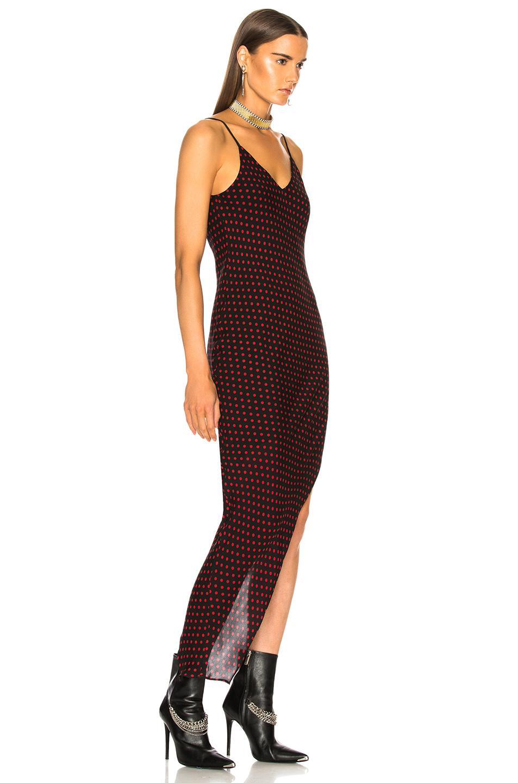866cae2106bba Amiri - Red Asymmetrical Dot Silk Dress - Lyst. View fullscreen