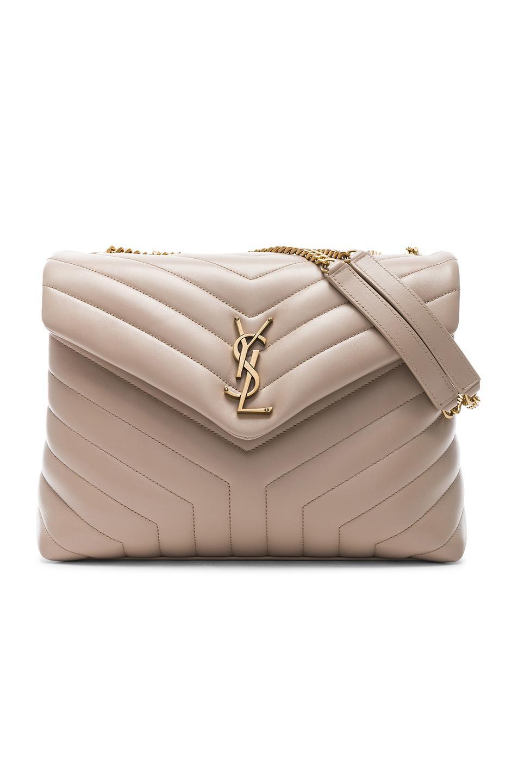 Saint Laurent. Women s Natural Medium Supple Monogramme Loulou Chain Bag b4755d824c97e