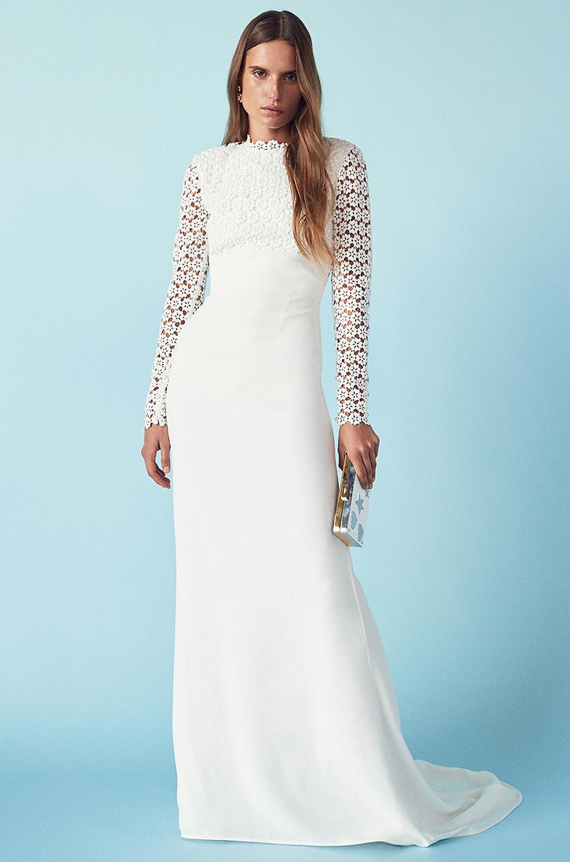 Lyst - Self-Portrait Eva Backless Silk Wedding Dress in White
