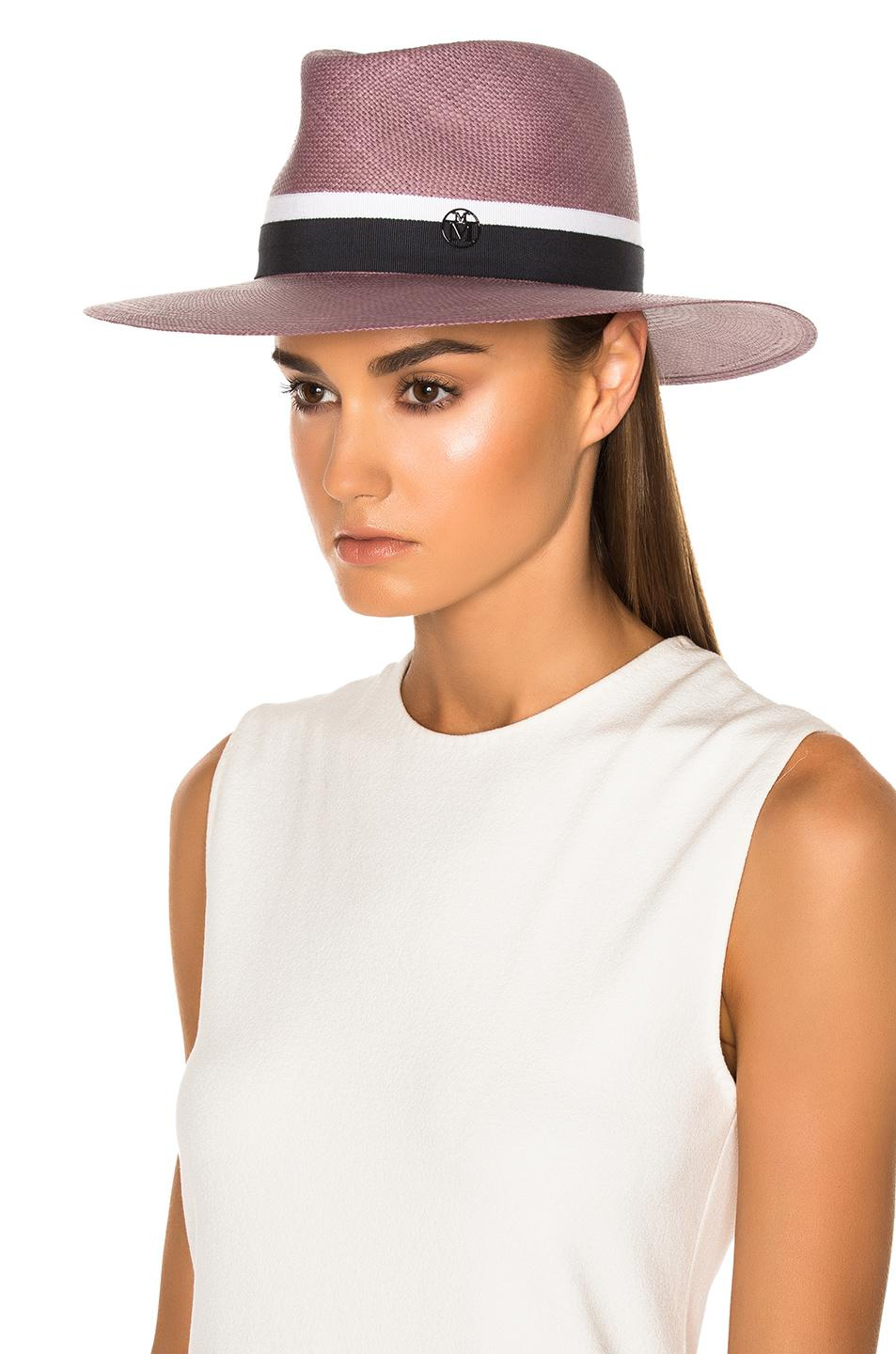 Lyst - Maison Michel Charles Hat In Antic Pink in Pink d57234636ee