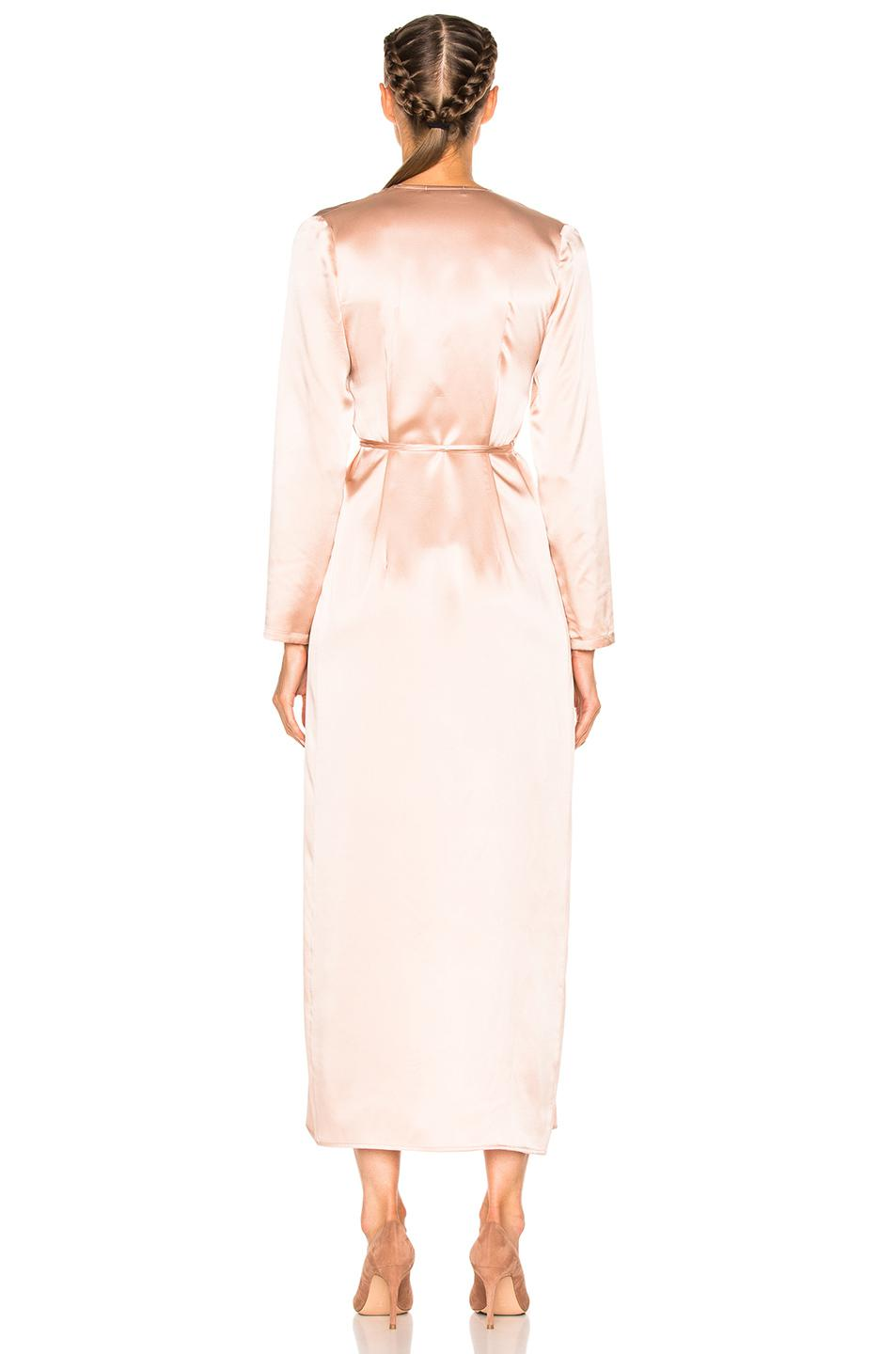 Theperfext For Fwrd Elyse Wrap Dress In Pink Lyst