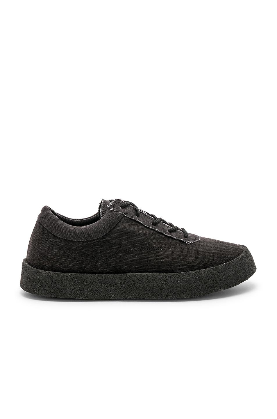 dbd2ad4fe59 Lyst - Yeezy Washed Canvas Crepe Sneakers in Black