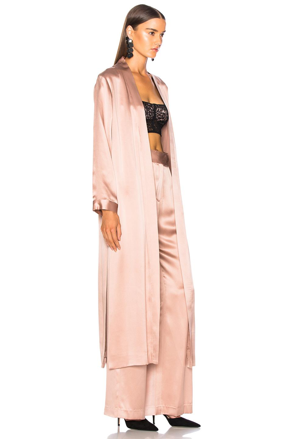 a73f5e448f17 Michelle Mason - Pink Robe With Slits - Lyst. View fullscreen