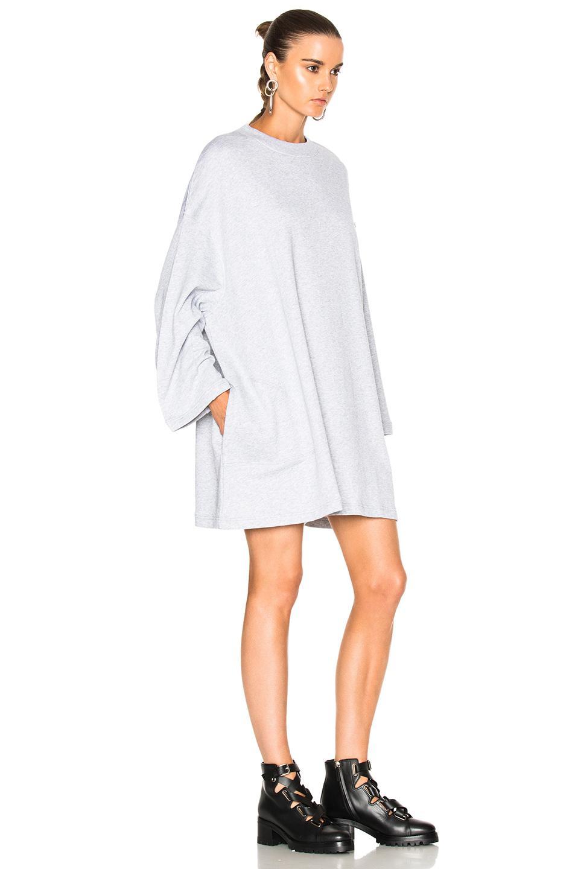 c0e6e03647b Acne Studios Leyla Fleece Sweater Dress in White - Lyst