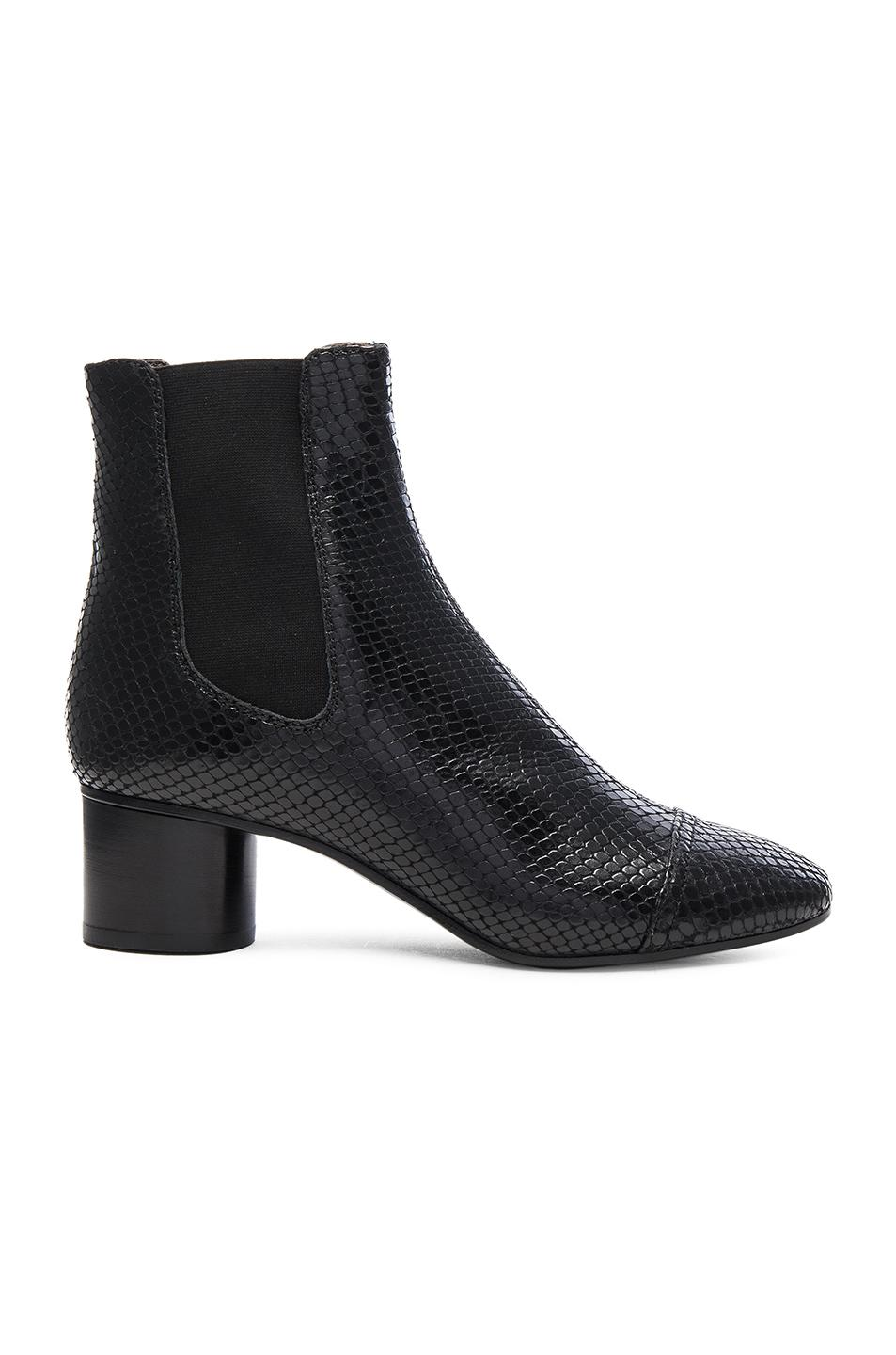 Isabel Marant Danae Printed Python Booties in ,Animal.