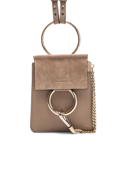 chlo faye mini bracelet bag in gray lyst. Black Bedroom Furniture Sets. Home Design Ideas