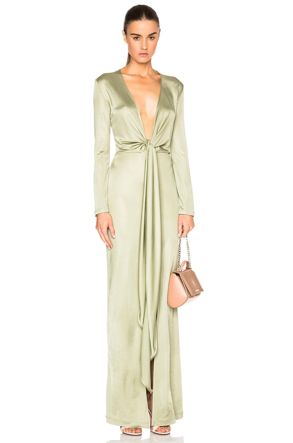 Lyst - Givenchy Jersey Gown in Green
