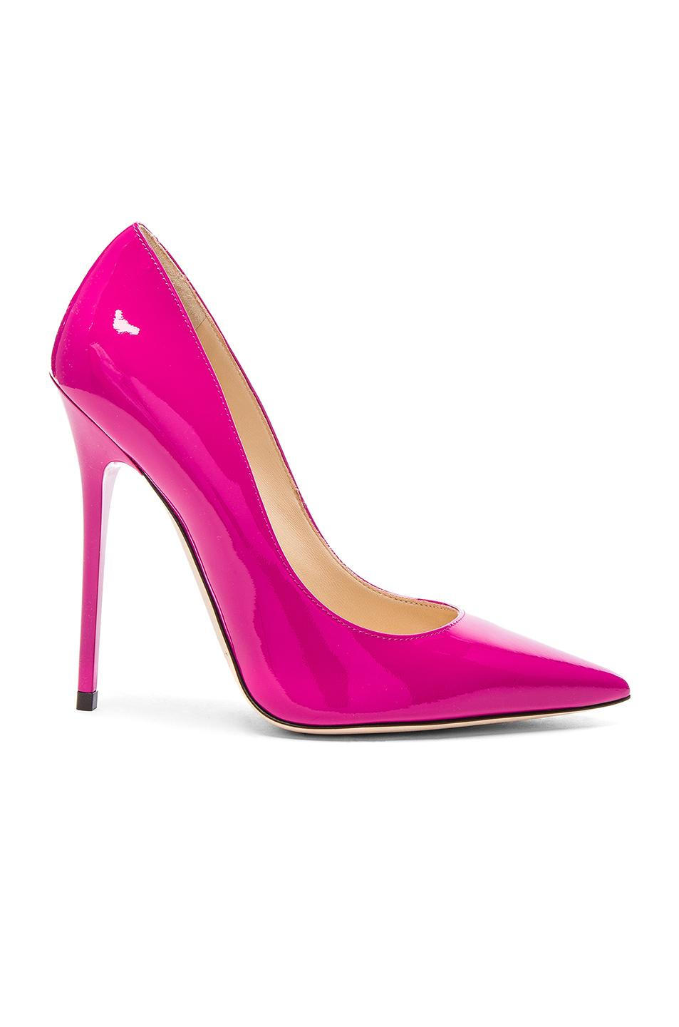Jimmy Choo Patent Leather Anouk Heels in Pink - Lyst d9a5312852b