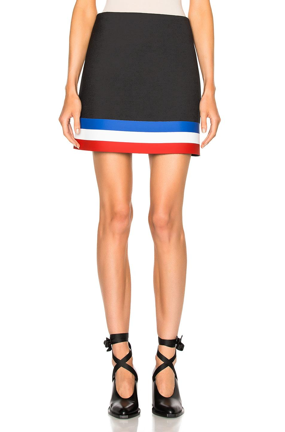 j w a line mini skirt in black lyst