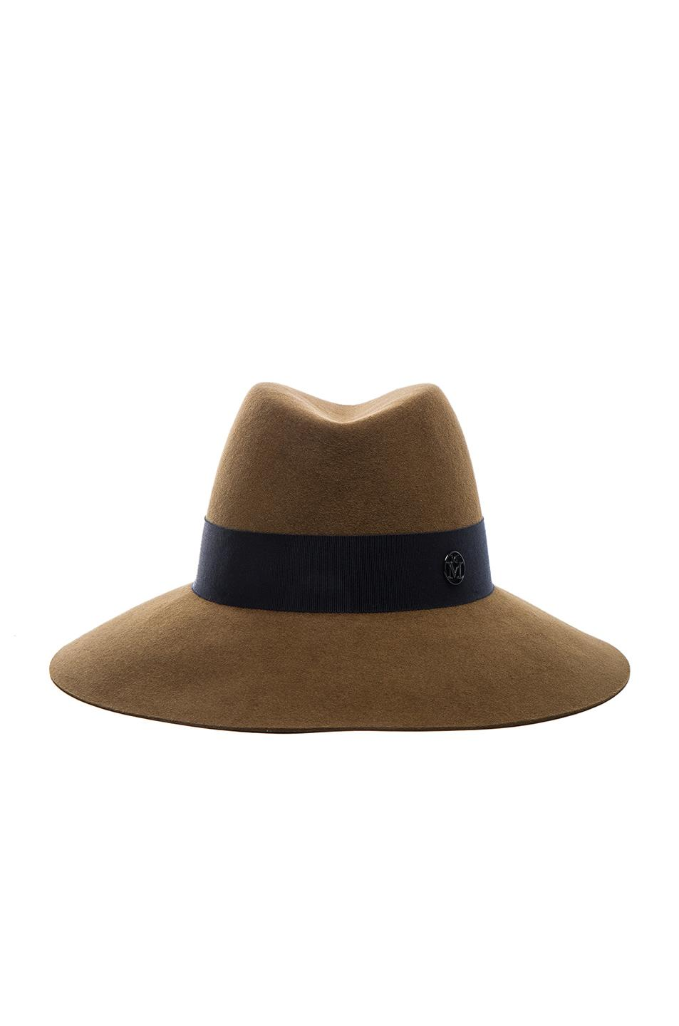 Lyst maison michel kate hat in brown for Maison michel