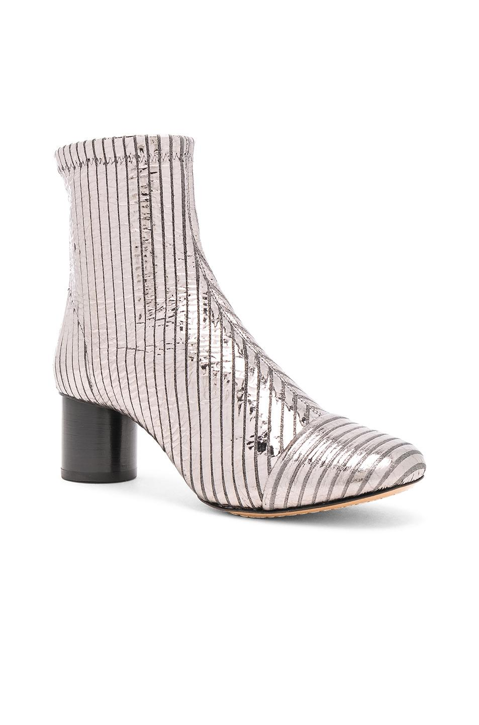 5cad7dc6c20 Isabel Marant - Datsy Metallic Leather Ankle Boots - Lyst. View fullscreen