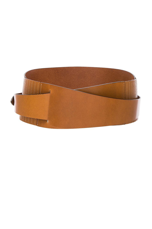Cajou Leather Waist Belt - Dark brown Isabel Marant Vu6htrZ35