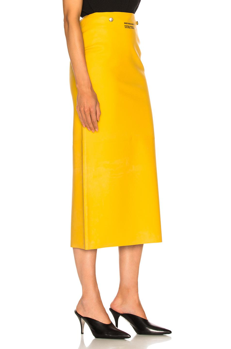 0a648685f CALVIN KLEIN 205W39NYC - Yellow Midi Skirt - Lyst. View fullscreen
