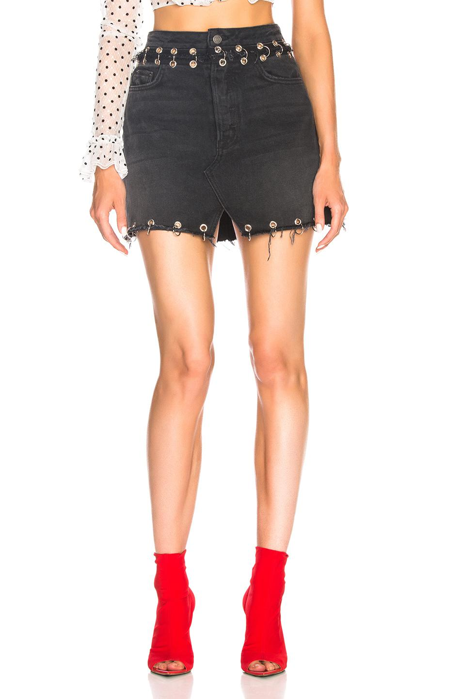 Outlet Footlocker 100% Authentic Cheap Price Milla High Rise Denim Skirt in Black GRLFRND Cheap Sale New Styles Free Shipping The Cheapest ED02S