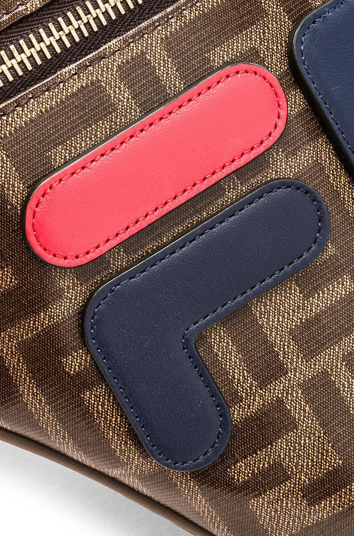 841160c69f57 Fendi Mania Logo Fanny Pack in Brown - Lyst