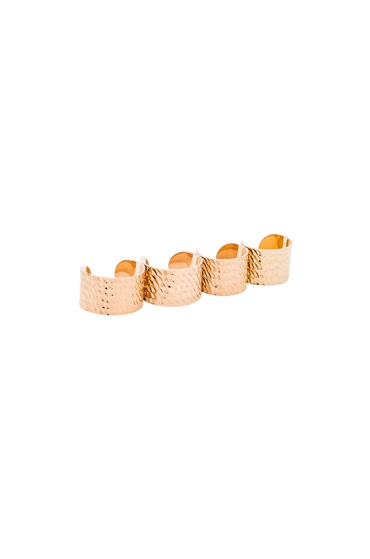 Maison Martin Margiela Textured Ring Set in Metallics oQAhZVNoos