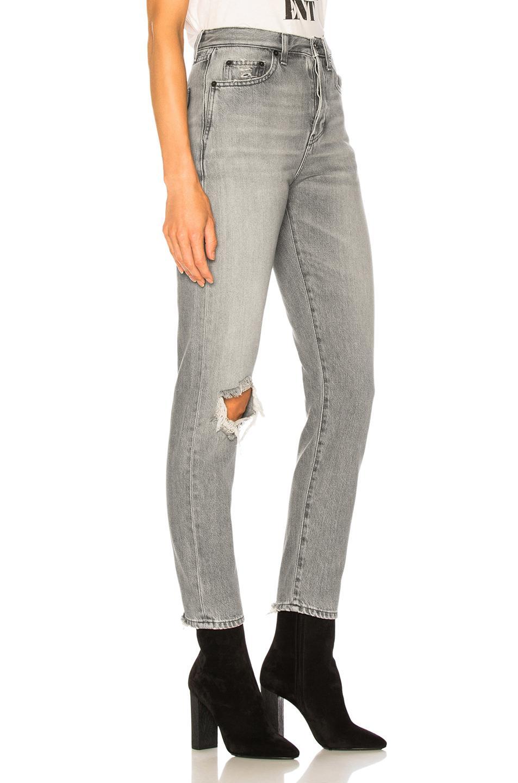 c58ebd9173 ... Gray Slim Fit Knee Hole Jeans - Lyst. View fullscreen